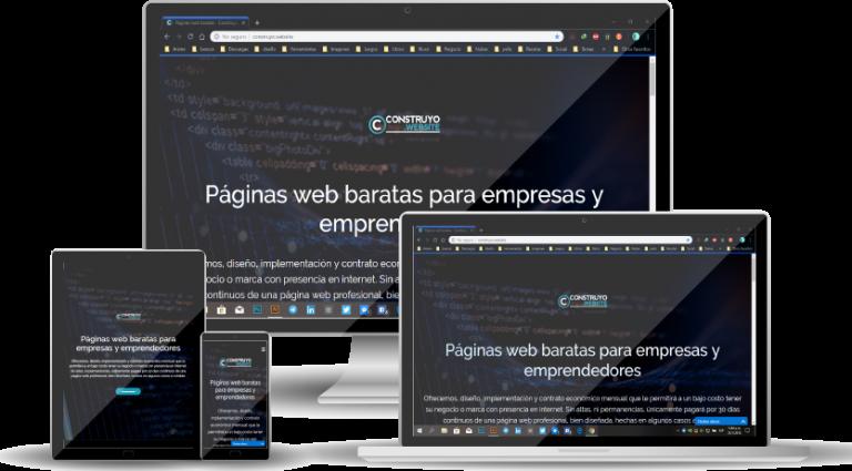Páginas web de Construyo.Website